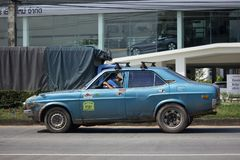 Privat gammal bil, Mazda bil Fotografering för Bildbyråer