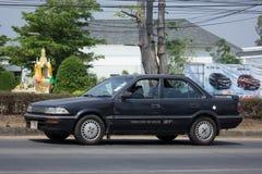 Privat gammal bil, Toyota Corolla Arkivfoto