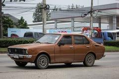 Privat gammal bil, Toyota Corolla Fotografering för Bildbyråer