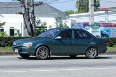 Privat gammal bil, Toyota Corolla royaltyfri foto