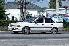 Privat gammal bil, Toyota Corolla arkivbilder