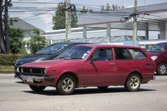 Privat gammal bil, Toyota Corolla skåpbil Arkivfoton