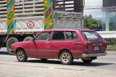 Privat gammal bil, Toyota Corolla skåpbil Royaltyfria Foton