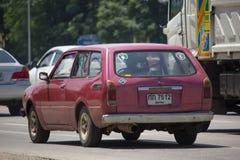 Privat gammal bil, Toyota Corolla skåpbil Arkivbilder