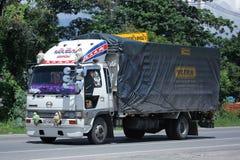 Privat gammal Hino lastlastbil Fotografering för Bildbyråer