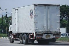 Privat gammal Hino lastlastbil Arkivbilder