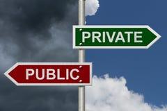 Privat gegen Öffentlichkeit Stockfotografie