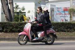 Privat Honda automatisk sparkcykelScoopy I motorcykel Royaltyfria Bilder