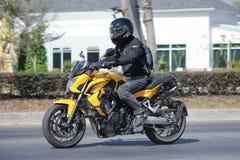 Privat Honda CB650F motorcykel Arkivfoto