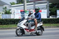 Privat Honda motorcykel, PCX 150 Fotografering för Bildbyråer