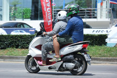 Privat Honda motorcykel, PCX 150 Royaltyfri Bild