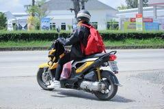 Privat Honda motorcykel, Zoomer X Arkivbild