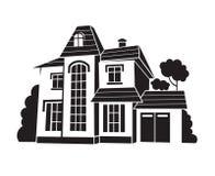 privat hus Fotografering för Bildbyråer