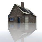 Privat hus för stenfacade med garage Fotografering för Bildbyråer