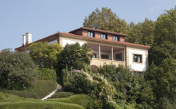Privat hus i Getxo, Bilbao Spanien Fotografering för Bildbyråer