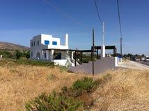 Privat hus i Grekland, Rhodes ö Fotografering för Bildbyråer