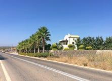 Privat hus i Grekland, Rhodes ö Royaltyfria Bilder