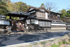 Privat hus - Matsue - Japan Royaltyfri Bild