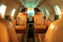 Privat jet cabin Royalty Free Stock Images