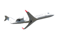 Privat Jet Plane Isolated On A White Background Royalty Free Stock Photos