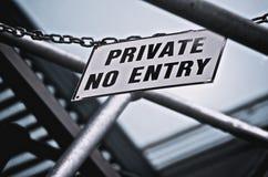 Privat kein Eintrag-Seufzer Stockfoto