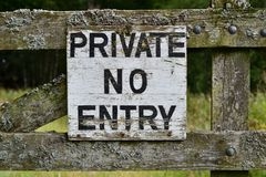 Privat kein Eintrag-Seufzer lizenzfreie stockfotos