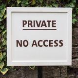 Privat - kein Zugang Stockfoto