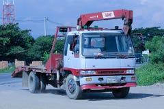 Privat lastbil med kranen Arkivfoton