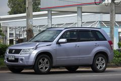 Privat Mini Suv bil, Suzuki Grand Vitara Royaltyfri Bild