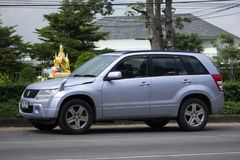 Privat Mini Suv bil, Suzuki Grand Vitara Arkivbild