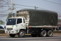 Privat Mitsubishi Fuso lastlastbil Royaltyfria Foton