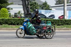 Privat motorcykel för leveransgas LPG Royaltyfria Foton