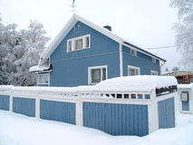 privat scandinavian för hus Royaltyfria Bilder