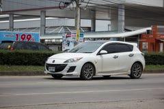 Privat stadsbil, Mazda 3 Arkivbilder