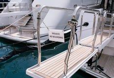 Privat statki w porcie Monaco w lecie słoneczny Europa i obraz stock