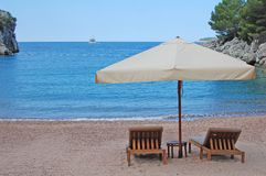 privat strand Royaltyfri Bild