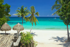 Privat strand Arkivfoton