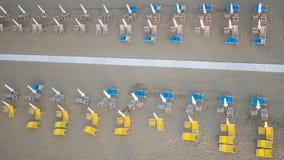Privat strand, flyg- sikt, Tuscany Arkivfoton