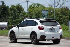 Privat Suv bil, Subaru Crosstrek Fotografering för Bildbyråer