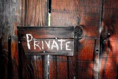 privat tecken Royaltyfria Foton