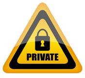 privat tecken Fotografering för Bildbyråer