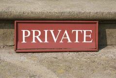 privat tecken arkivbild