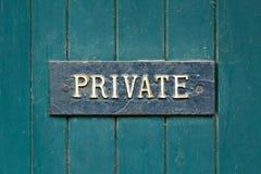 privat tecken Arkivbilder