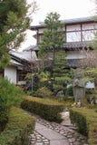 Privat trädgård - Kyoto - Japan Royaltyfri Bild