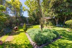 Privat trädgårds- Santa Catalina kloster Arequipa fotografering för bildbyråer