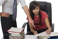 Privat tuition, private coach helps student. Teach for improving the school success Stock Image