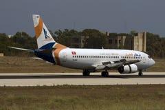 Privat turkiskt flygbolag 737 Arkivbild