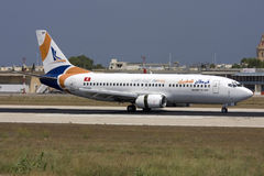 Privat turkiskt flygbolag 737 Fotografering för Bildbyråer