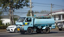 Privat vom Abwasser-Tankwagen Lizenzfreies Stockfoto