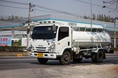 Privat vom Abwasser-Tankwagen stockfotos